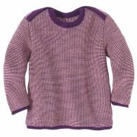Baby Pullover Melange Schlupfkragen lila