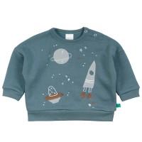 Cooles Sweatshirt Weltall blau