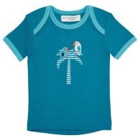 Vorschau: T-Shirt für Babys & Kleinkinder - Palme blau