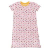 Sommer Nachthemd kurzarm rosa Flamingos
