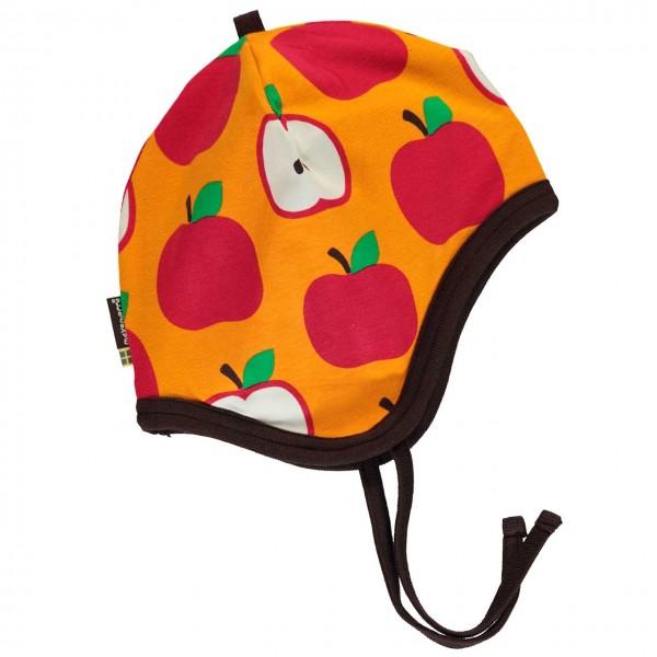 Apfel Babymütze in orange-rot