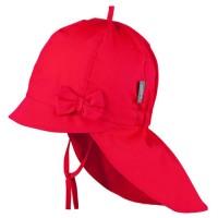 Rote Sommer Mütze Schleife Nackenschutz