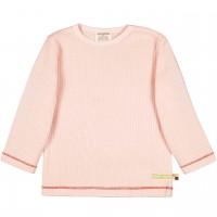 Shirt langarm Waffelstrick in rosé