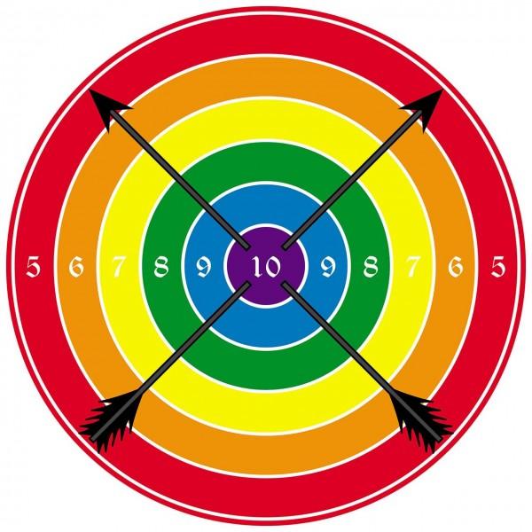 Zielscheibe rund farbig