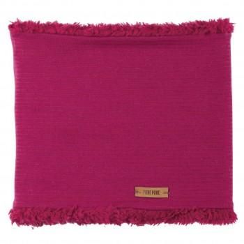 Warmer plüschiger Schlauchschal pink