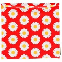 Schlauchschal leicht Gänseblümchen in rot 68/92