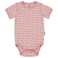 Bio Body kurzarm rosa Elefanten