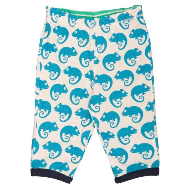 Wendehose von Loud and Proud grün mit blauen Geckos