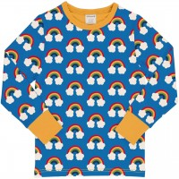 Regenbogen Shirt langarm blau