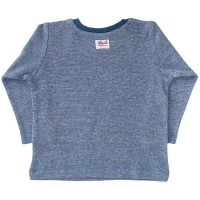 Vorschau: Langarm Shirt blau Maulwurf-Druck
