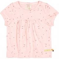 Leichtes Slub Jersey Shirt kurzarm rosa
