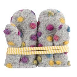 Punkte Baby Handschuhe Punkte bunt grau