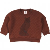 Gestepptes Sweatshirt mit Fuchs rotbraun