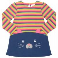Kätzchen Kleid langarm mit Öhrchen