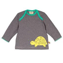 Loud and Proud Shirt langarm Ringel blau mit Schildkröte