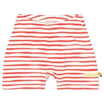 Leichte Streifen Shorts rot