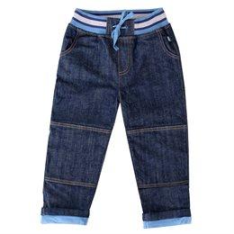 Gefütterte Jeanshose dunkelblau