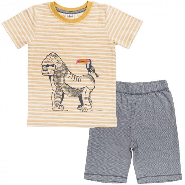 Schlafanzug leicht Shorts und Shirt Gorilla