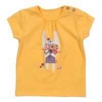 T-Shirt mit Knöpfen & Hasi mit Blumenstrauß