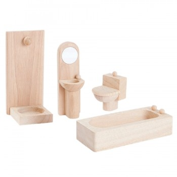 Badezimmer naturbelassen Puppenhaus Möbel