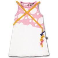 Cooles Mädchenkleid mit Drachenschleife rosa