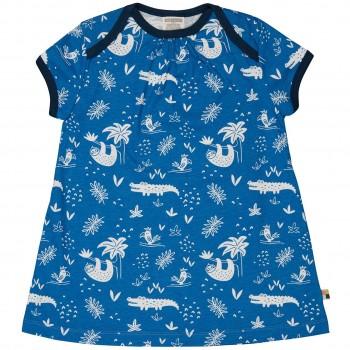 sommerliches Kleid Dschungel blau