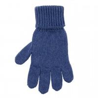 Kinder Handschuhe nautic-blau Strick