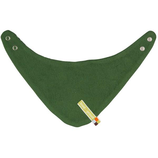Wendehalstuch 2 Druckknöpfe Fleece grün