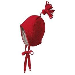 Wintermütze Walk innen aus Biobaumwolle neutral rot