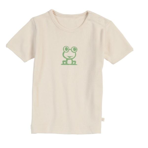 T-Shirt ungefärbt mit süßem Frosch