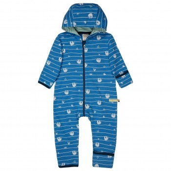 Leichter Sweatoverall Faultiere blau