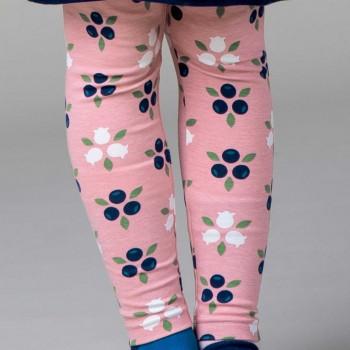 Jersey Leggings Blaubeeren in rosa