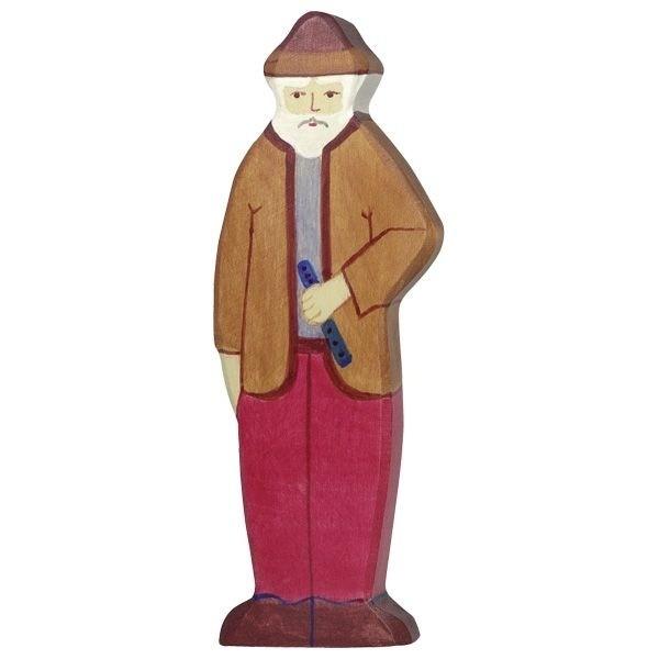 Holzfigur Opa - auf dem Bauernhof