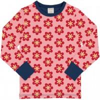 Anemonen Shirt langarm Bündchen in rosa
