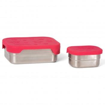 Edelstahl Brotdose für Schule & Freizeit rot