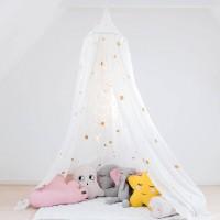 Baldachin und Babybett Himmel – weiß und gold