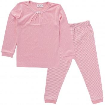 Mädchen Schlafanzug Pünktchen
