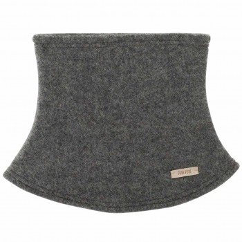 Schiefer-grauer Loopschal Wolle Fleece