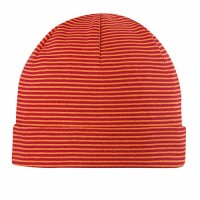 Beanie Kinder super soft orange gestreift
