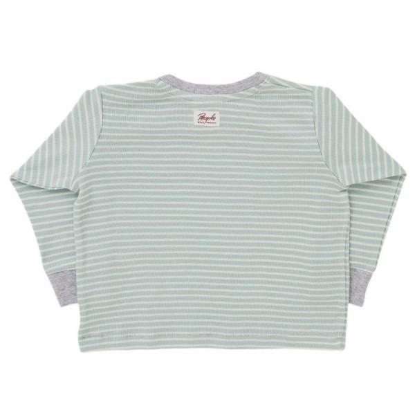 Langarm Shirt mint geringelt