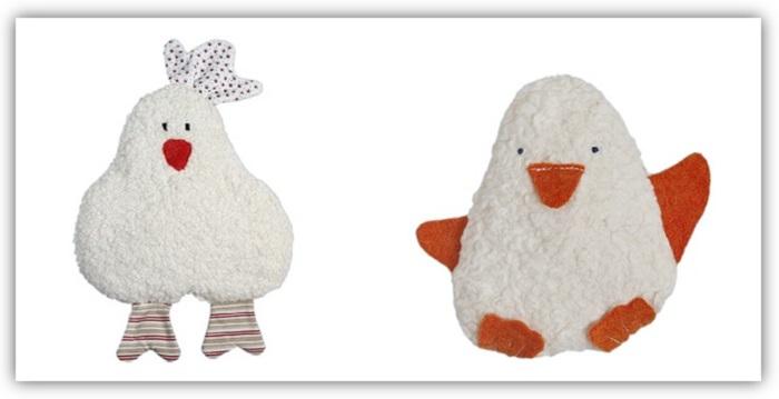 Schones-Gutes-von-Efie-Bio-Rassel-Kueken-und-Pinguin-aus-Biobaumwolle