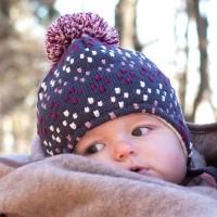 Dicke Wintermütze - Wolle, Seide & Biobaumwolle Punkte