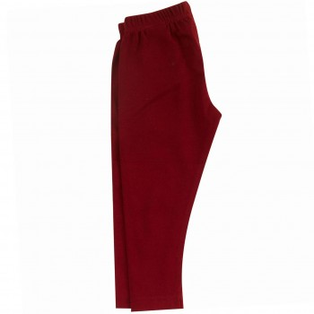Lange uni Leggings in rot