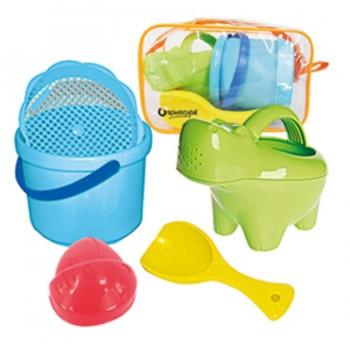 Baby Sandspielzeug SET Hippo mit praktischer Tasche