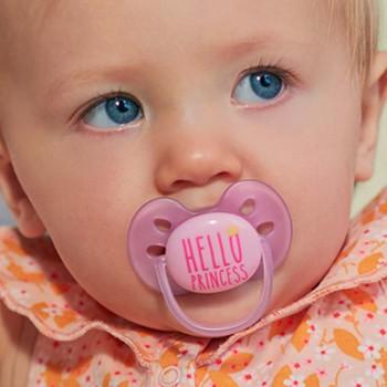 "Schnuller ultra soft ""Hello Princess"" rosa 6-18 Monate"