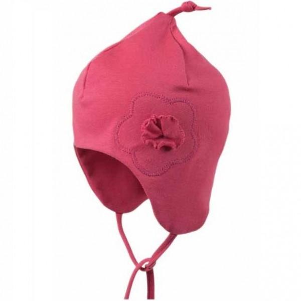 Leichte Zipfelmütze für Babys hinten ohne Naht - pink