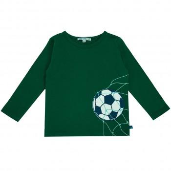 Fußball Langarmshirt in dunkelgrün