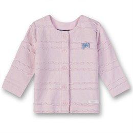 Rosa Baby Strickjacke mit Schleife
