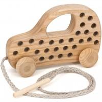 Holz Fädelspiel Auto – ab 3 Jahren