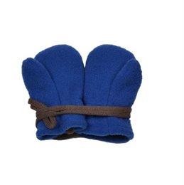 Bio Schurwolle Baby Handschuhe - kornblau